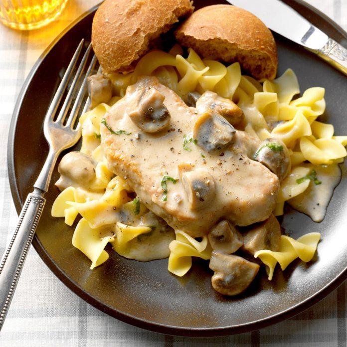 Buttermilk-Mushroom Pork Chops