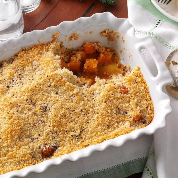 Butternut Gratin with Parmesan-Sage Topping