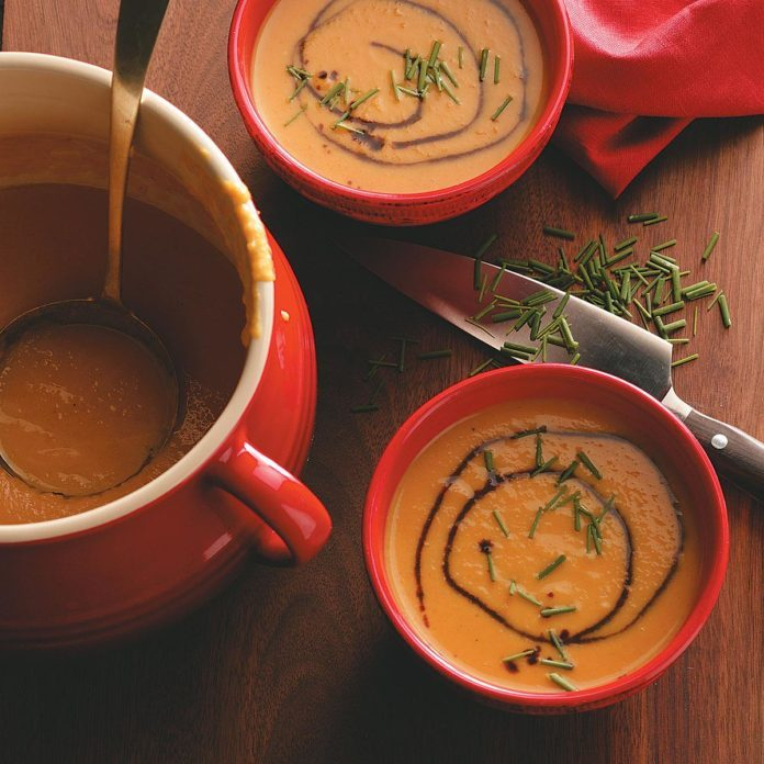 New Hampshire: Butternut Squash & Pear Soup