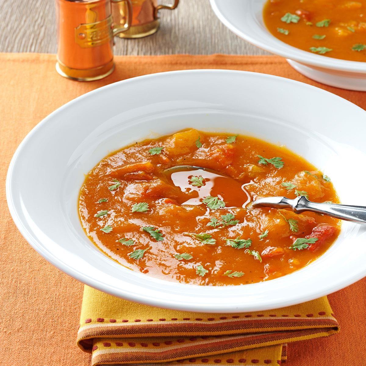 Butternut Squash And Roasted Pepper Soup Recipe