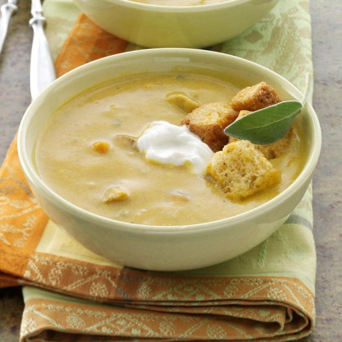 Butternut Squash and Sausage Soup