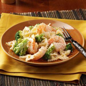 Caesar Shrimp and Pasta