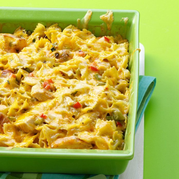 Louisiana: Cajun Chicken Pasta Bake
