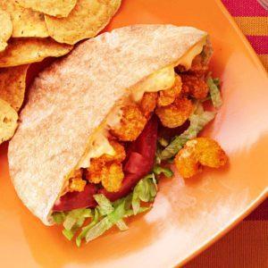 Cajun Popcorn Shrimp Sandwiches