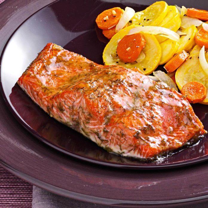Caramel Glazed Salmon