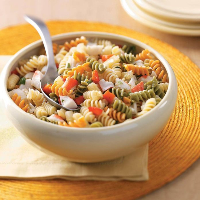Best way to make shrimp pasta salad with crab meat
