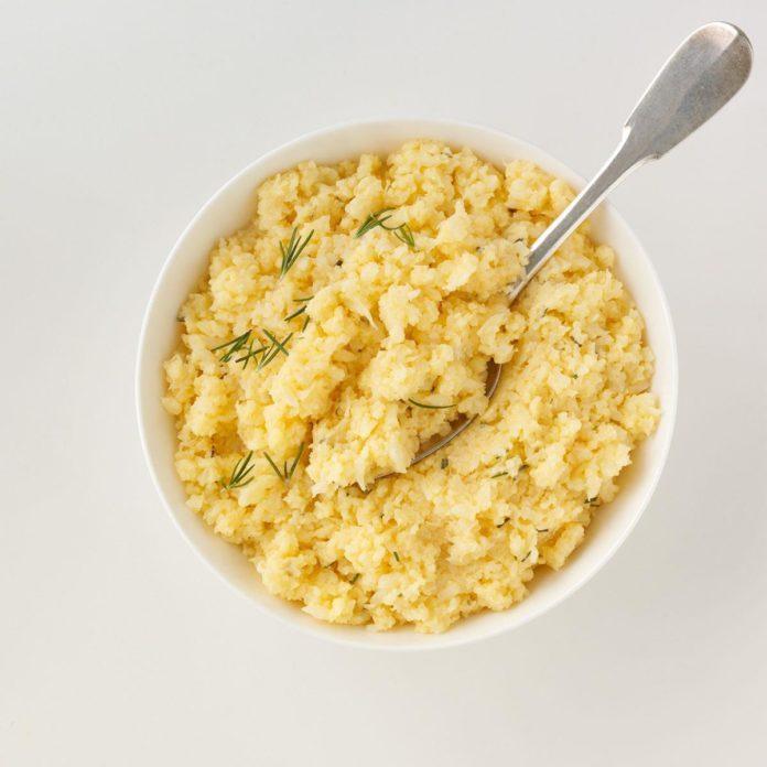 Cheddar Mashed Cauliflower