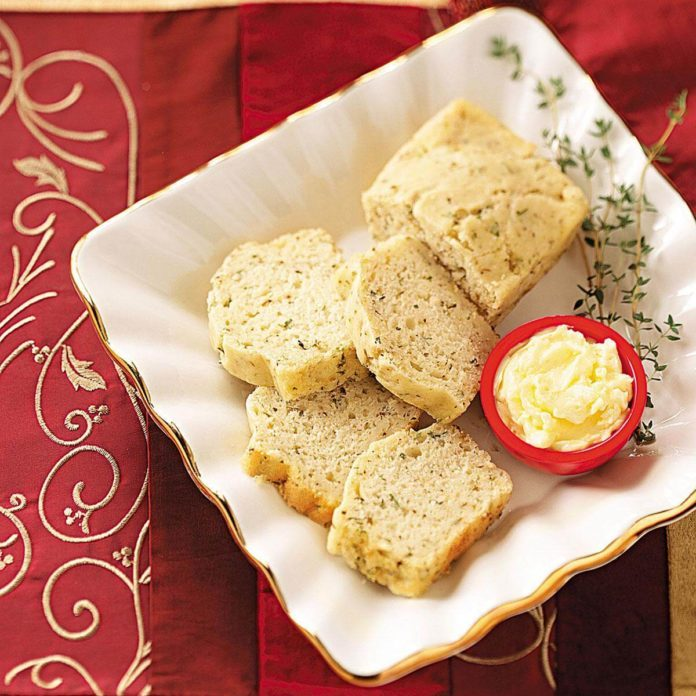 Cheesy Herb Mini Loaves
