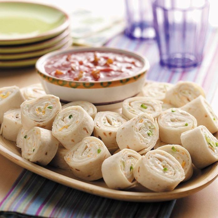 Cheesy Onion Roll-ups