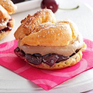 Cherry Chocolate Cream Puffs