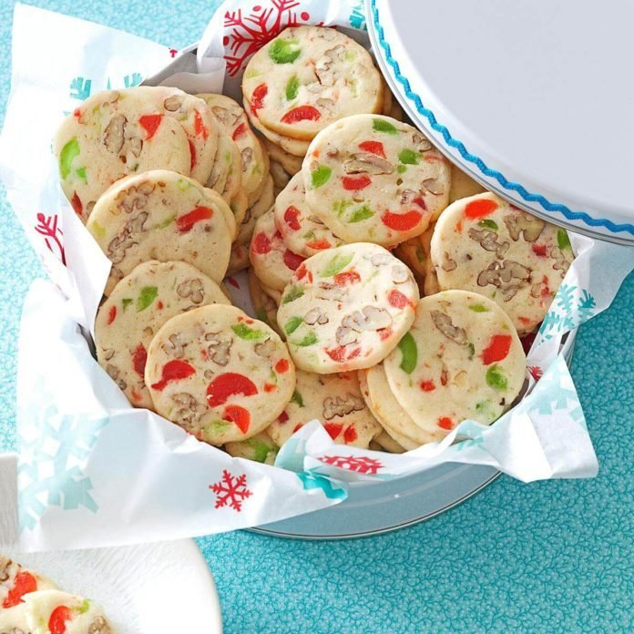 Cherry Christmas Slices