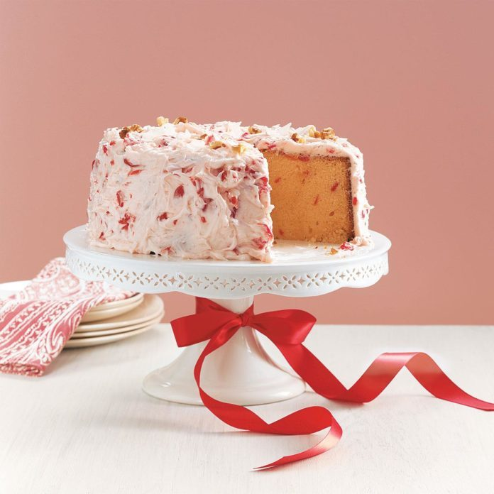 Excellent Cherry Pound Cake Recipe Taste Of Home Birthday Cards Printable Giouspongecafe Filternl