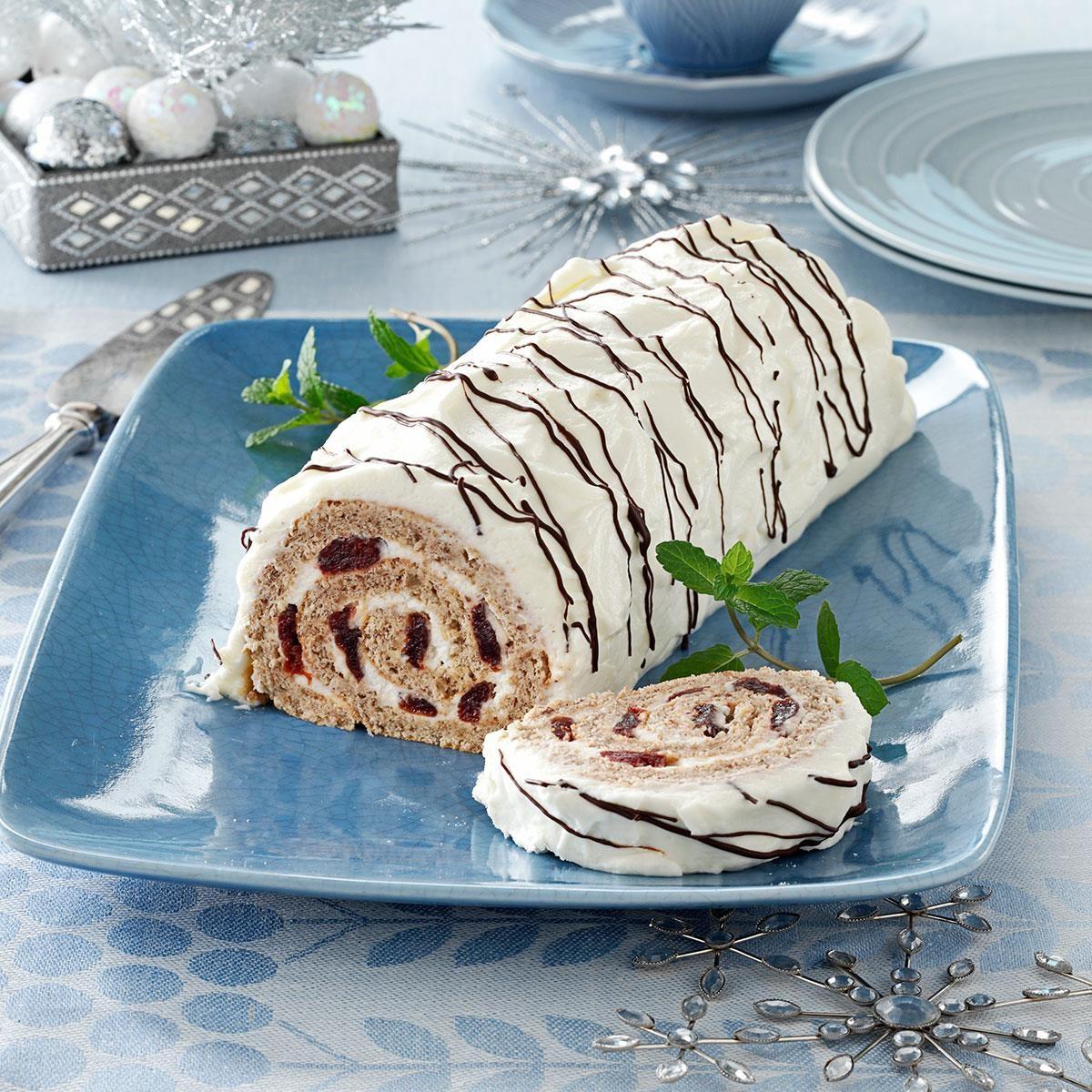 Cherry-Walnut Cake Roll | Taste of Home
