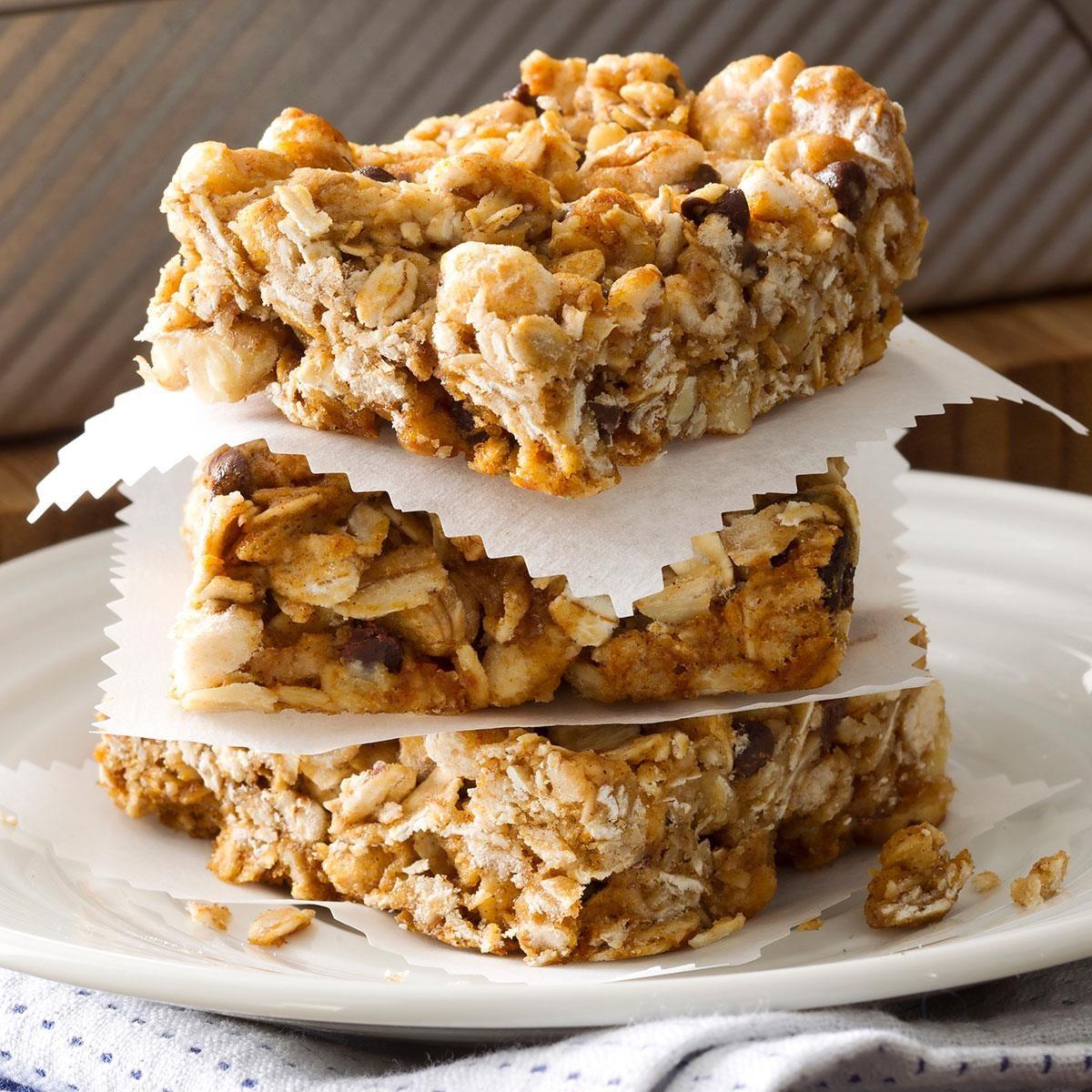 Chewy Honey Granola Bars Recipe   Taste of Home