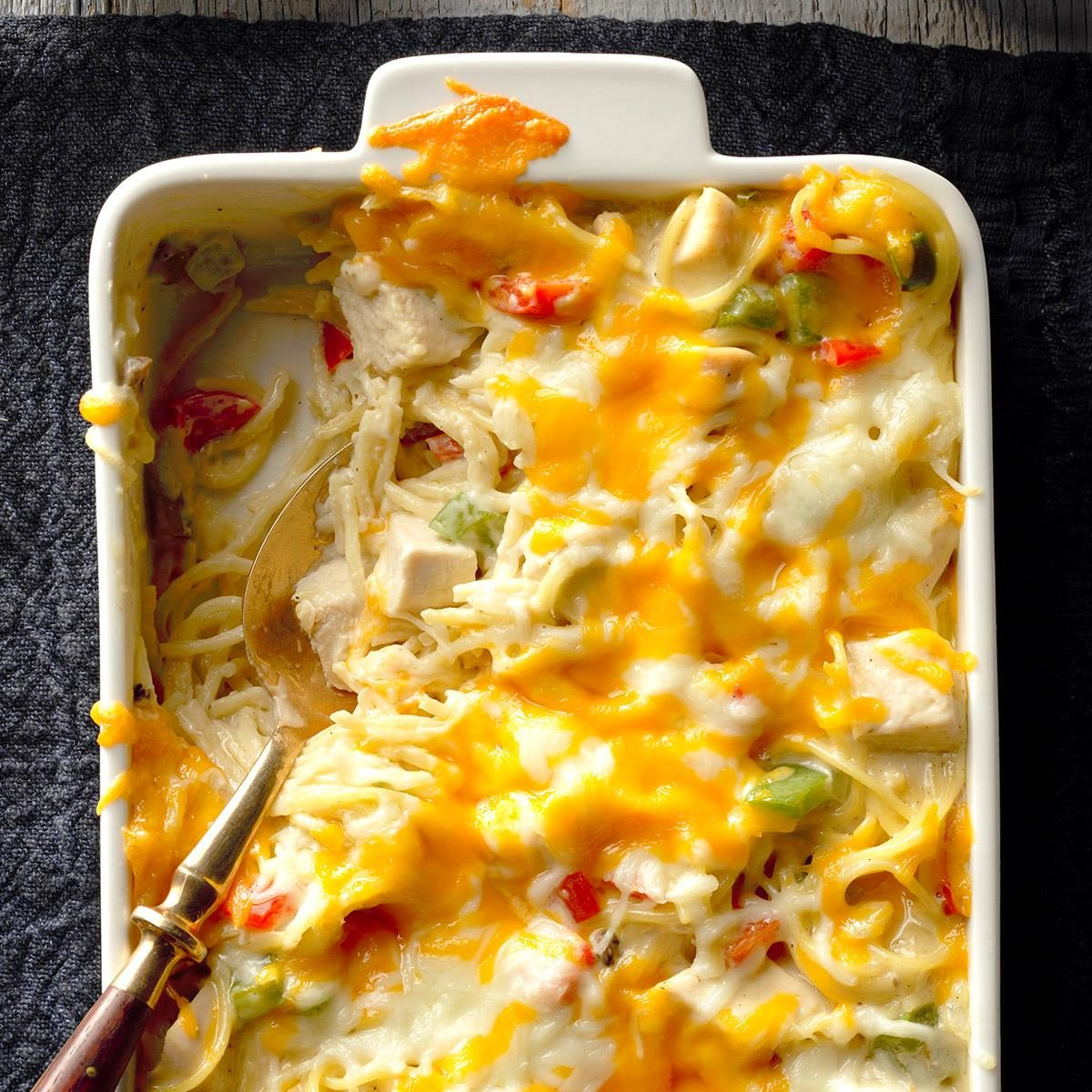 chicken cheese noodle bake recipe taste of home