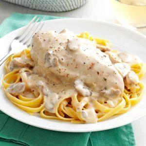 Chicken & Mushroom Alfredo