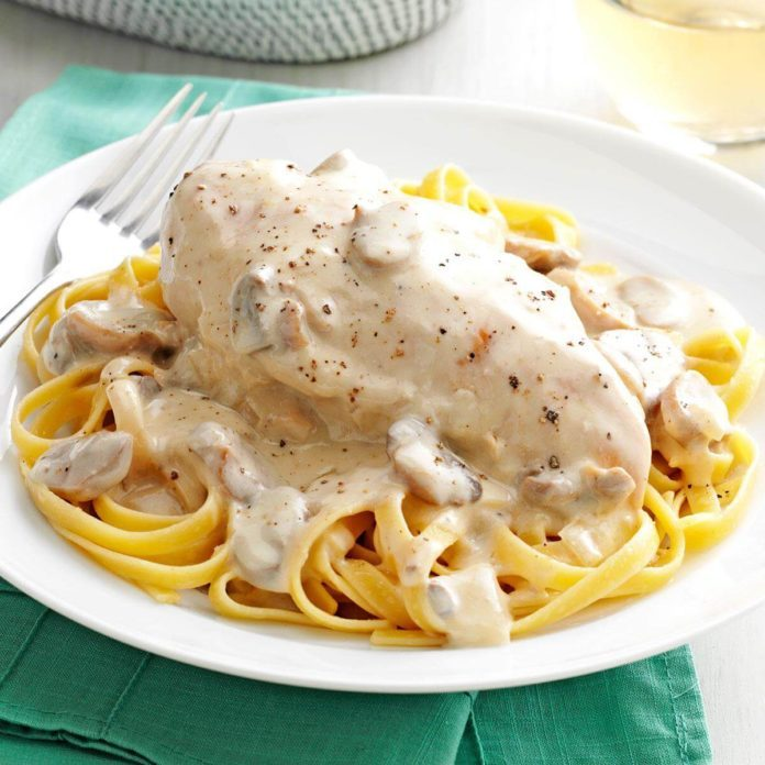 Chicken and Mushroom Alfredo