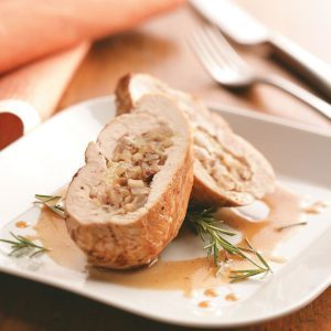 Chicken Stuffed with Walnuts, Apples & Brie