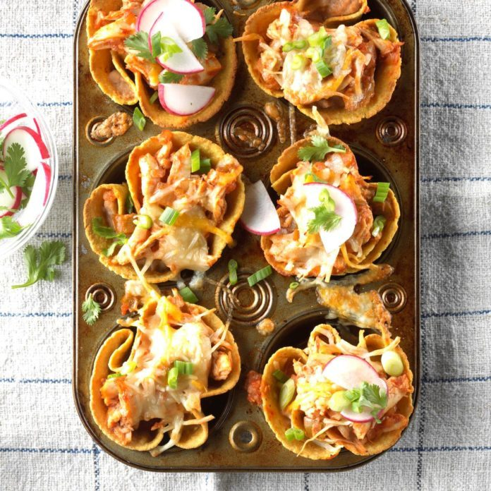 Chicken Tostada Cups