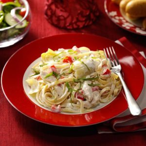 Chicken and Artichoke Fettuccine Alfredo