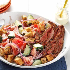 Chili-Rubbed Steak & Bread Salad
