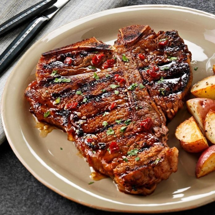 Chipotle-Honey Grilled T-Bones