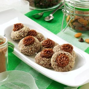 Chocolate-Almond Thumbprints