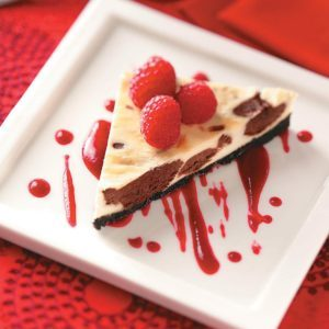 Chocolate Cheesecake Triangles