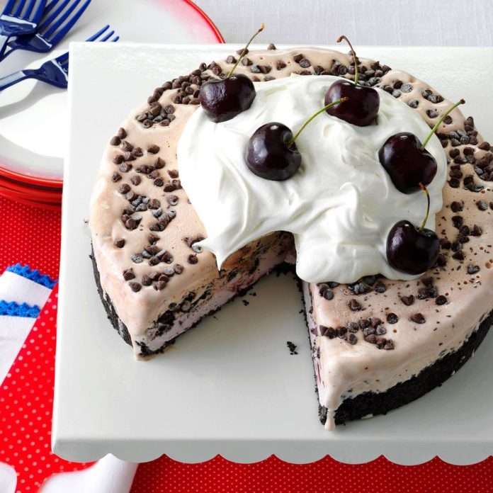 Chocolate-Cherry Ice Cream Cake
