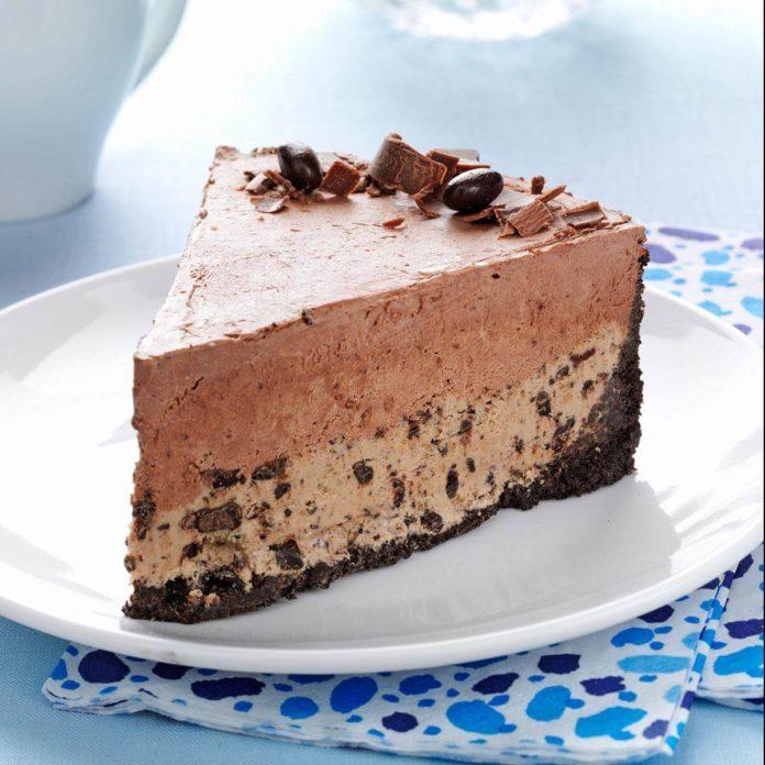 Chocolate-Coffee Bean Ice Cream Cake