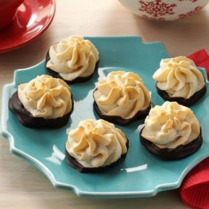 Chocolate-Dipped Hazelnut Macaroons