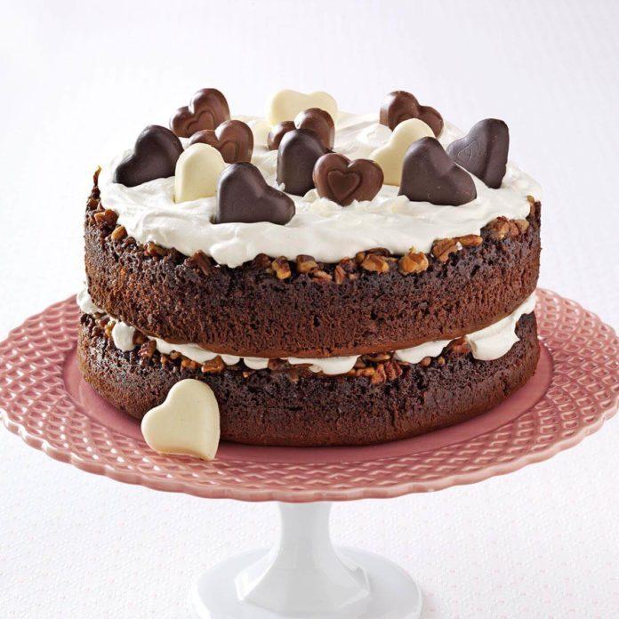 Chocolate-Praline Layer Cake