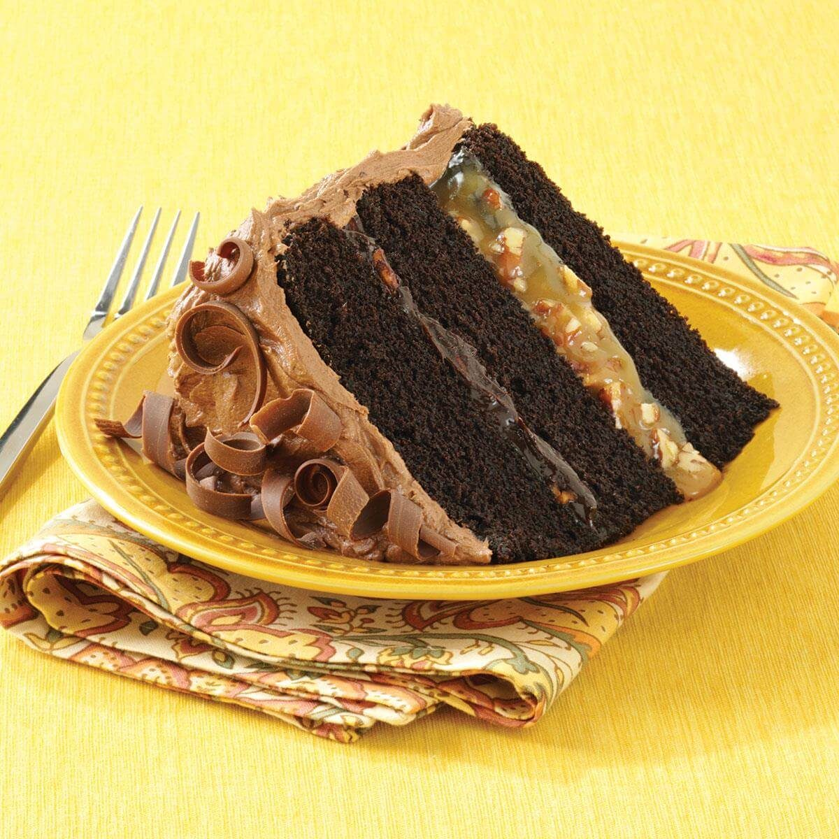 Chocolate Turtle Cake Recipe   Taste of Home