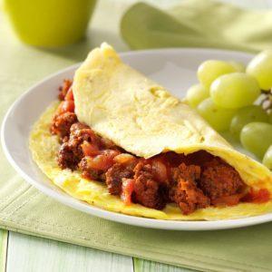 Chorizo Salsa Omelet