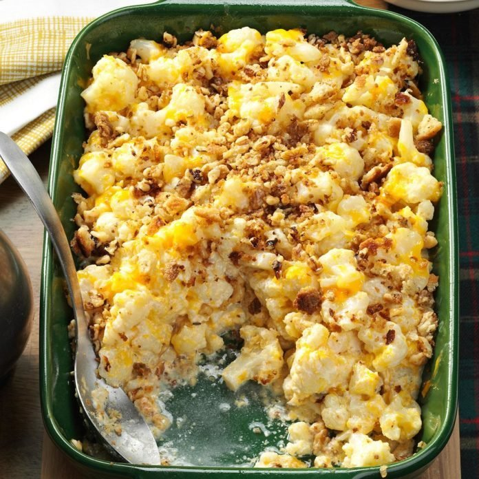 Christmas Cauliflower Casserole