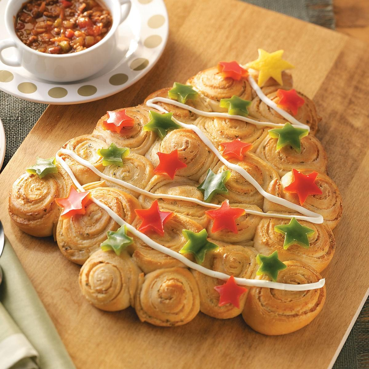 Christmas tree savory rolls recipe taste of home forumfinder Images