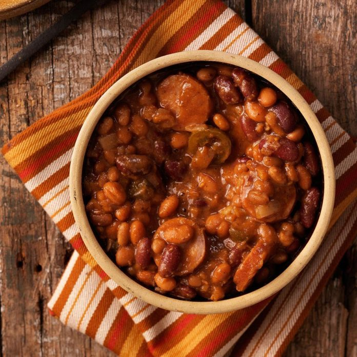 Chuck Wagon Beans with Sausage