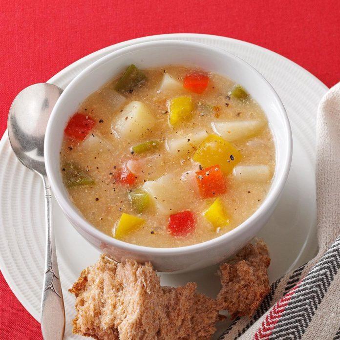 Chunky Pepper Potato Soup