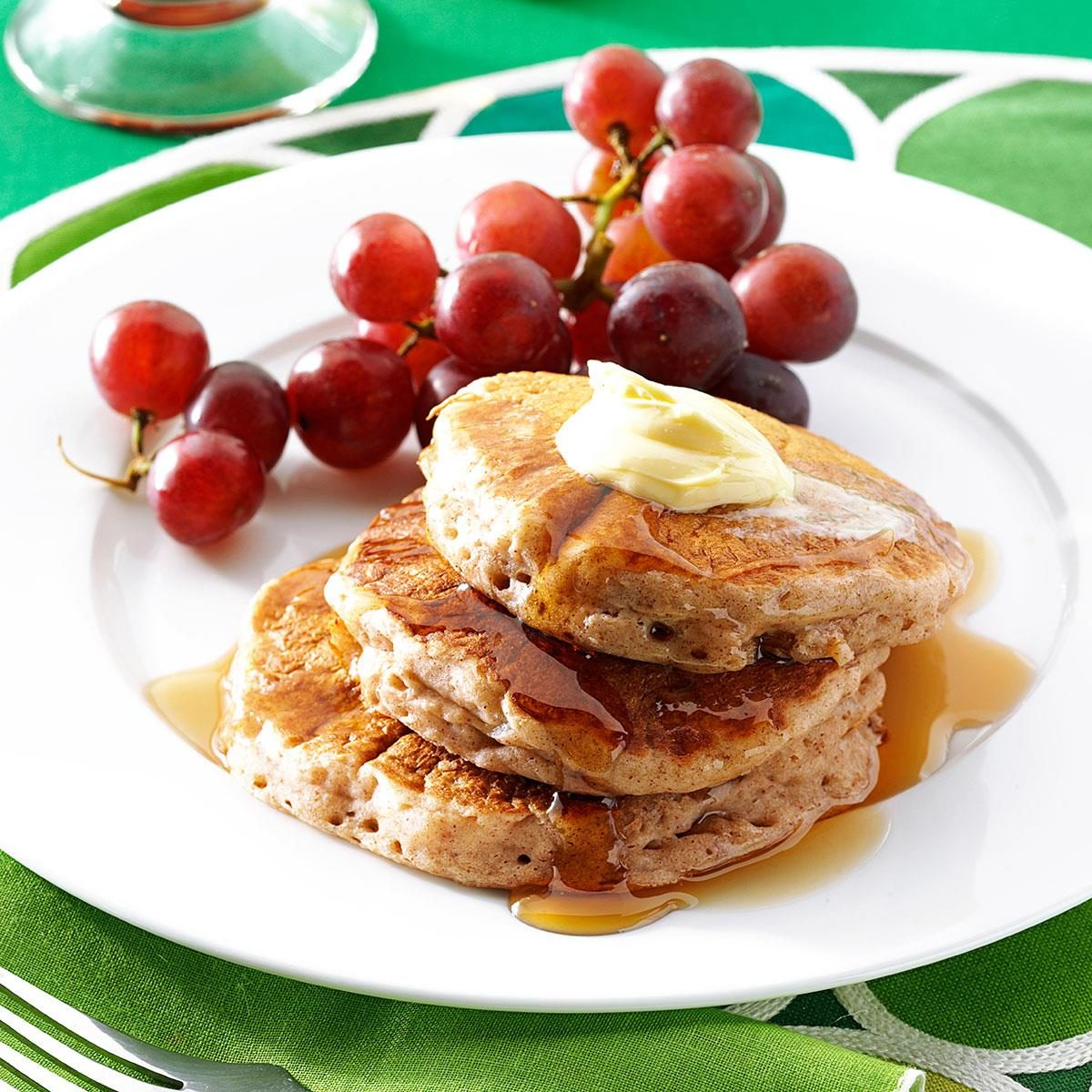 Cinnamon Applesauce Pancakes Recipe