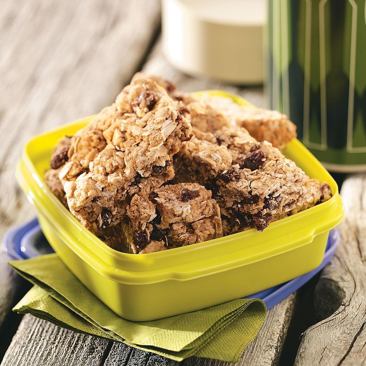 Cinnamon granola bars