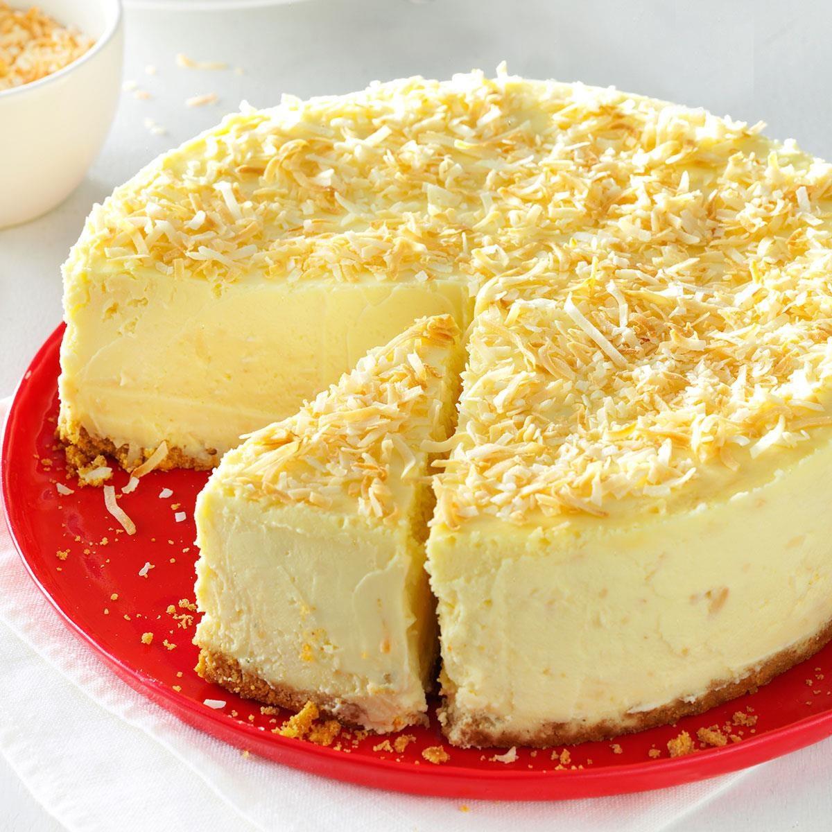 Coconut-White Chocolate Cheesecake Recipe