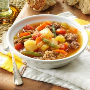 Contest-Winning Hearty Hamburger Soup