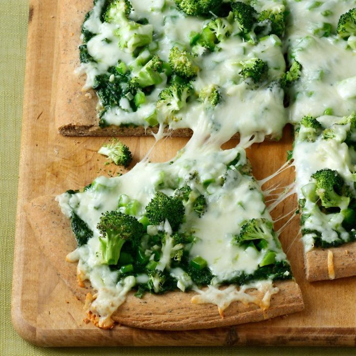 Contest-Winning Pesto Veggie Pizza