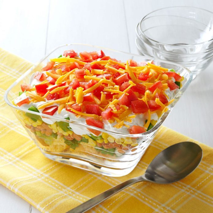 Corn Bread Layered Salad