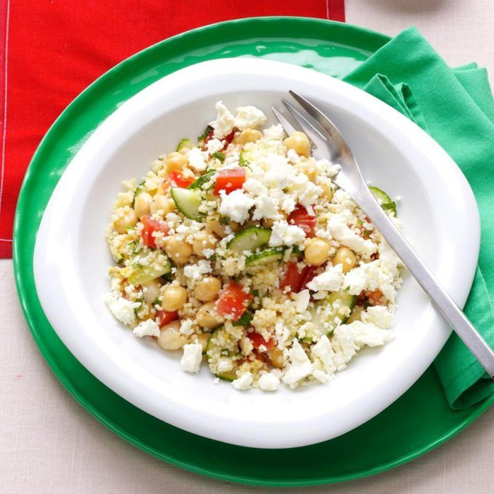 Couscous Tabbouleh with Fresh Mint & Feta