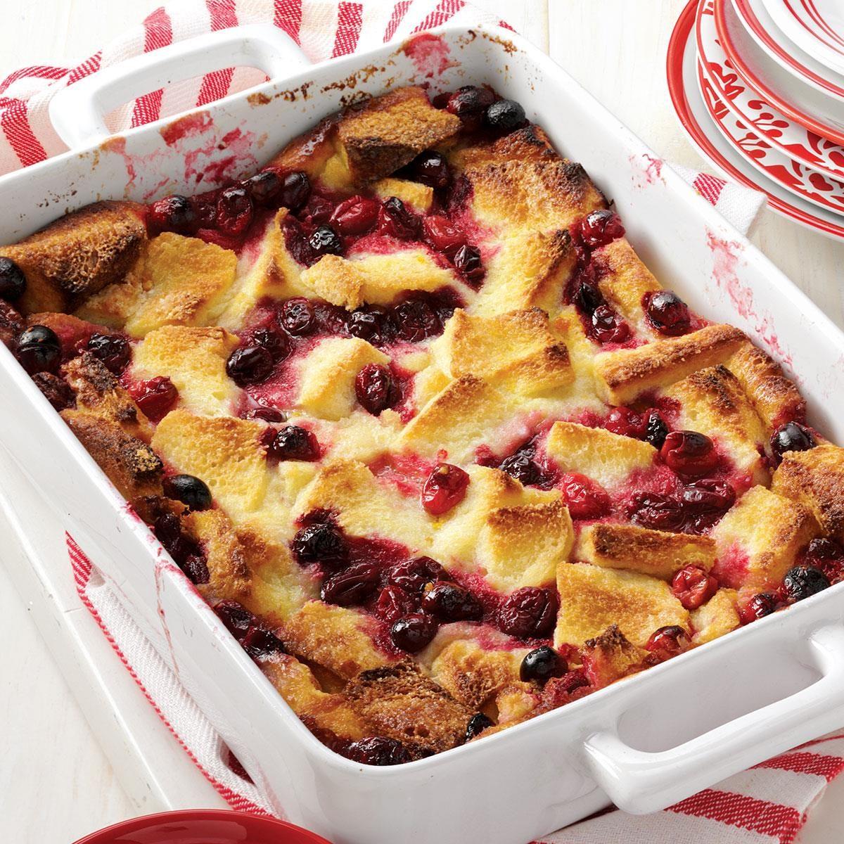 Cranberry Bread Pudding Recipe Taste Of Home