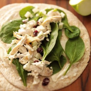 Cranberry Chicken Wraps