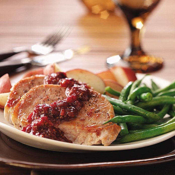 Day 22: Cranberry-Kissed Pork Chops