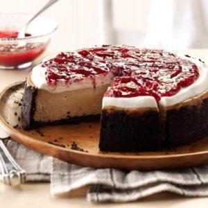 Cranberry Mocha Cheesecake
