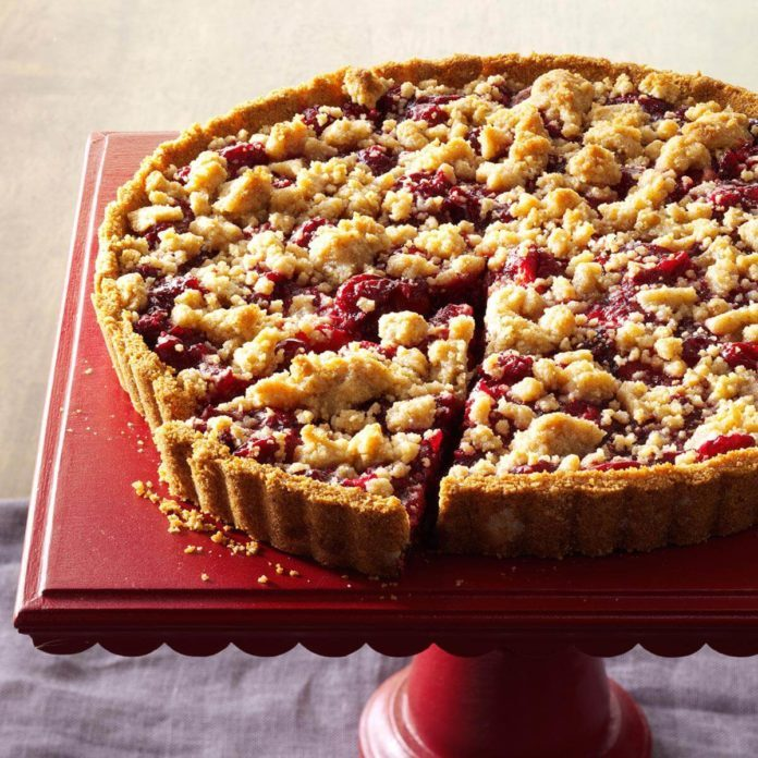 Cranberry-Orange Crumb Tart
